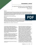 Algunos Aspectos Bioéticos d e La Investigación en Psicofarmacología Clínica