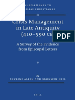 [VigChr Supp 121] Pauline Allen, Bronwen Neil - Crisis Management in Late Antiquity (410–590 CE)_ A Survey of the Evidence from Episcopal Letters, 2013.pdf