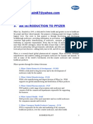 1  2  3  An Introduction To Pfizer: 1  Pfizer Global Research