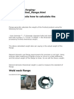 Flange Products How to Calculate the Weight