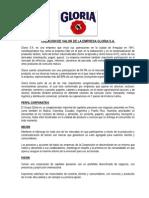 Creacion de Valor de La Empresa Gloria S.a.