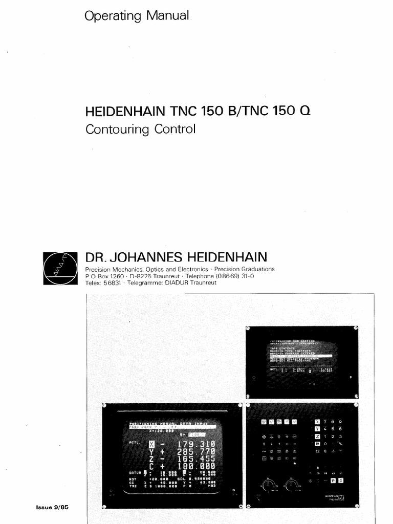 operating manual tnc 150 coordinate system cartesian coordinate rh scribd com