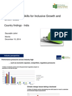 Saurabh Johri- Education and Skills for Inclusive Growth and Green Jobs, Country findings - India