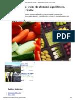 Dieta Vegetariana_ Esempio Di Menù Equilibrato, Benefici, Rischi e Ricette