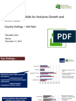 Saurabh Johri- Education and Skills for Inclusive Growth and Green Jobs, Country findings – Viet Nam