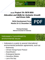 Punang Amaripuja- Education and Skills for Inclusive Growth and Green Jobs, Indonesia Country Report