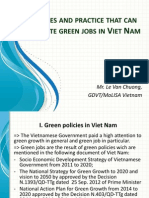 Le Van Chuong-Policies and practice that can promote green jobs in Viet Nam