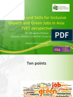 Margarita Pavlova- Education and Skills for Inclusive Growth and Green Jobs in Asia