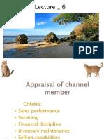Appraisal of channel member