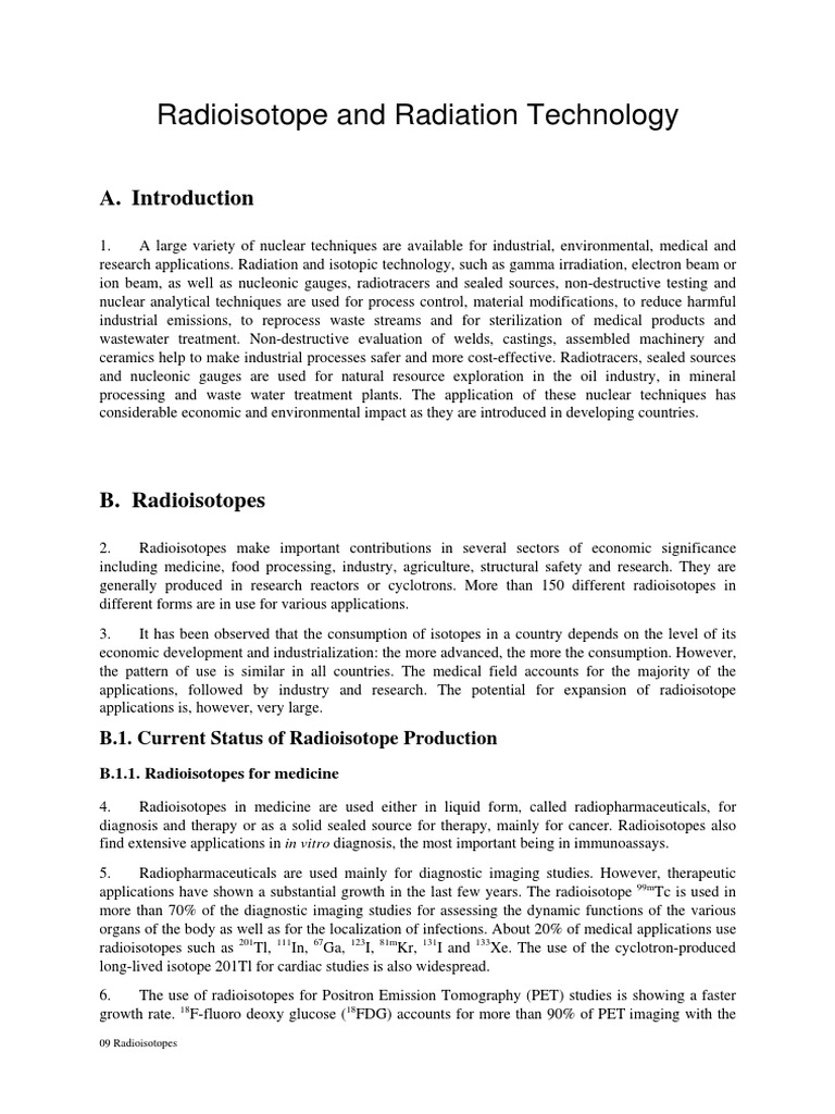 Radioisotopes | Radionuclide | Radioactive Tracer