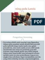 Screening Pada Lansia