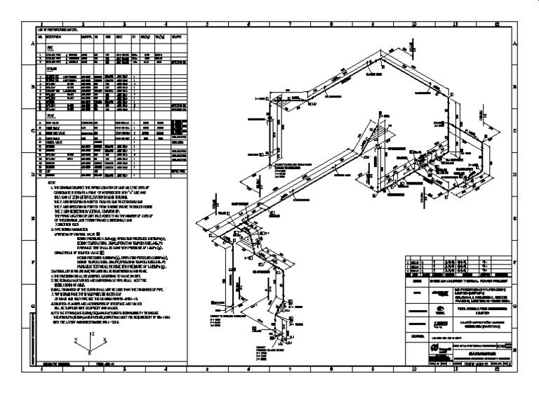 Power Plant Steam Piping Isometric Drawing