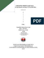 MAKALAH DEVI (Pentingnya Orientasi Dan Mobilitas Pada Tuna Netra)
