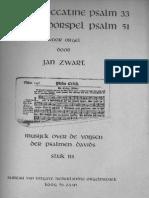 Jan Zwart -Toccatine Psalm 33