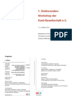 Program Kant Doctoral Workshop