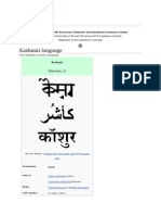 Kashmiri Language