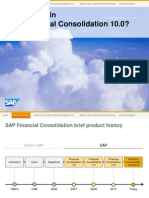 What's New in SAP Financial Consolidation 10.0