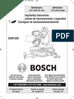 Manual de la Ingleteadora BOSCH GCM12SD