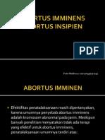 ABORTUS IMMINENS