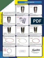 Catalogo de peças para motor CARED