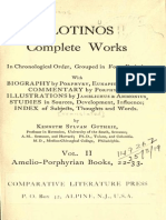 Plotinos 1918 Complete Works, Vol. 2. Amelio-Porphyrian Books 22-33 (Opt)
