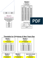 Xmas 2014 Time Tables