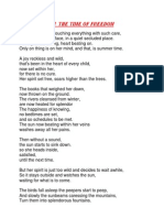 Summer Poem the Time of Freedom