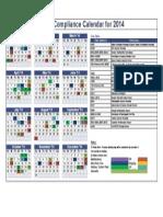 Compliance Calendar 2014
