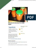 Zacusca de Dovlecei Cu Ardei Kapia - Good Food Romania