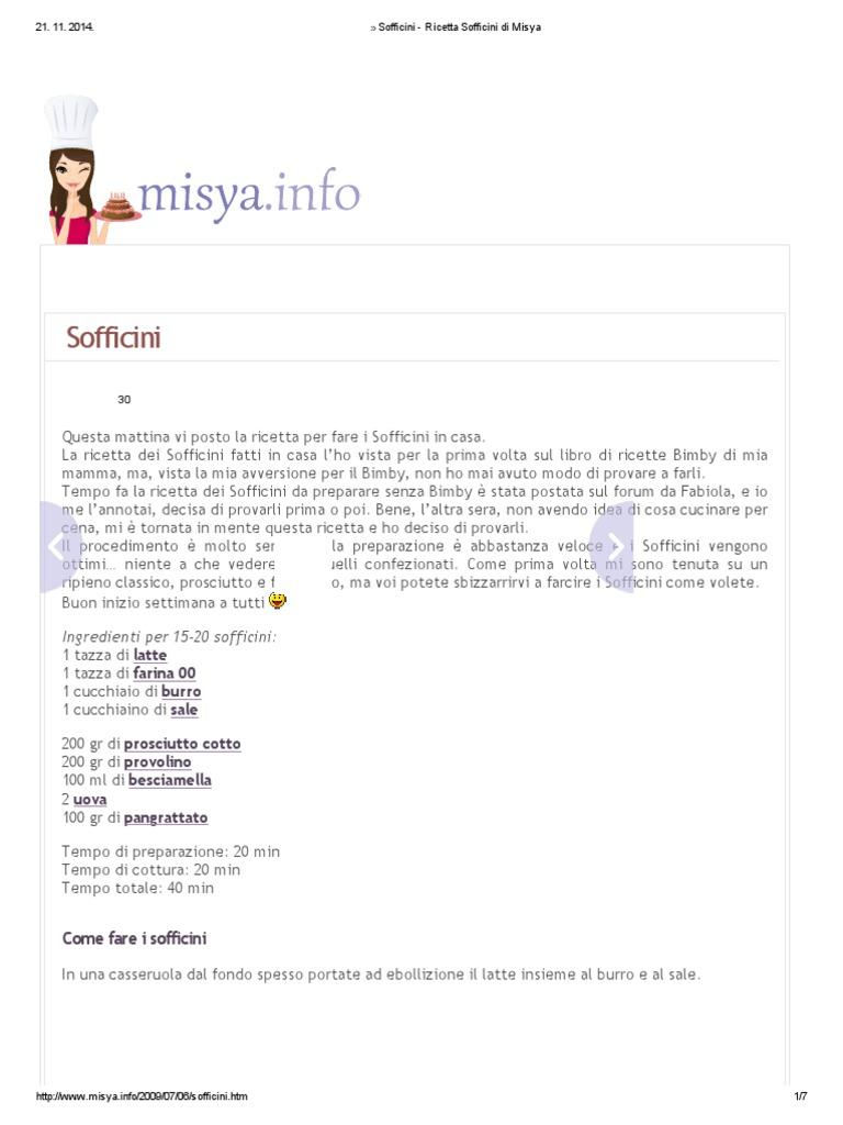Libro Le Ricette Di Misya sofficini - ricetta sofficini di misya.pdf