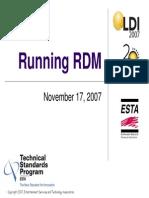 Running RDM LDI07 r2