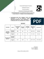 ESPECTROMETRÍA DE ABSORCIÓN MOLECULAR EN EL ULTRAVIOLETA Y VISIBLE (FOTOCOLORIMETRÍA).