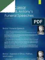 english julius caesar funeral speeches comparison