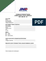 Formulir Pendaftaran Lomba Karya Tulis 2014