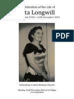 Rita Longwill Order of Service