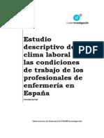 Estudio Descriptivo Del Clima Laboral y Las Condiciones de Trabajo de Los Profesionales de Enfermería en España