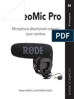 Videomicpro User Manual French Rode