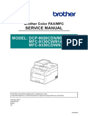 brother mfc-9340 service manual | Electromagnetic Interference