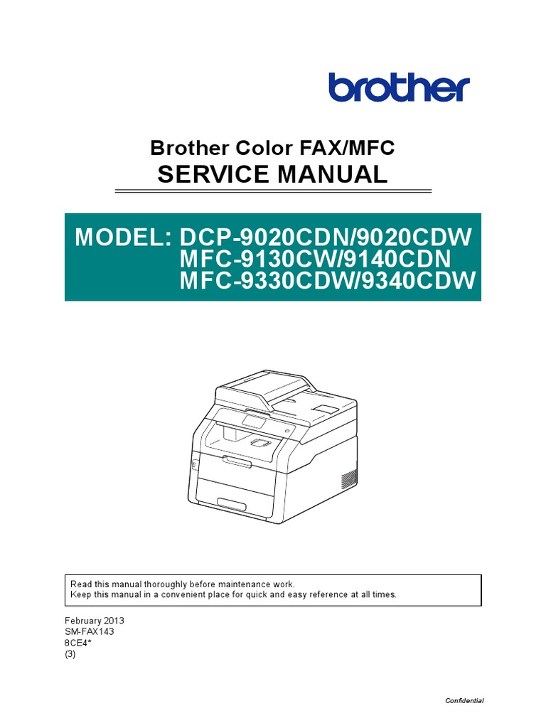brother mfc 9340 service manual electromagnetic interference rh es scribd com brother printer repair manual brother printer service manual pdf