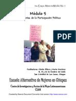 MEMORIA Módulo 5 HERRAMIENTAS  DE LA PARTICIPACION  POLITICA 3fase