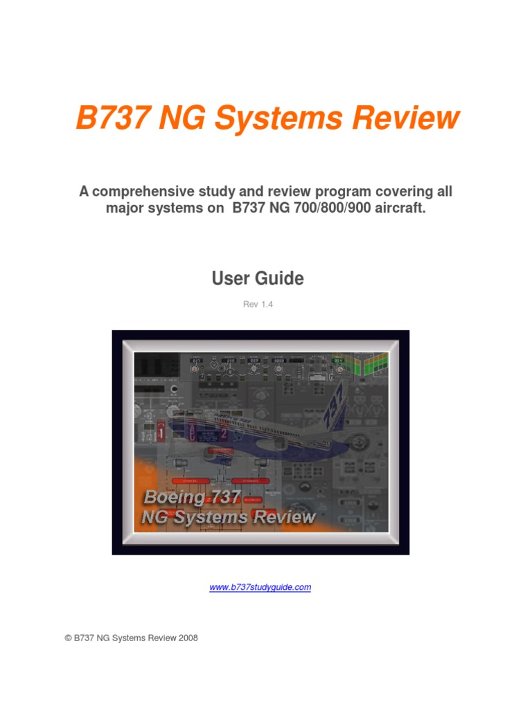b737 ng systems review boeing 737ng study guide windows xp rh es scribd com Boeing 777 Boeing 747