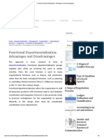 Functional Departmentalization_ Advantages and Disadvantages