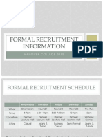 Hanover College Panhellenic Formal Recruitment Packet 2015
