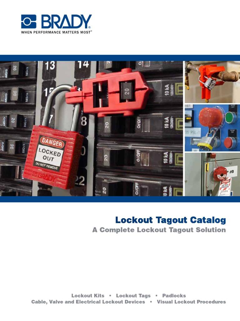 Brady Gate Valve Lockout Satchel Kit Padlocks and Tags Not Included Legend Brady Lockout//Tagout 99676 Legend Brady Lockout//Tagout