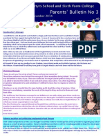 Parents Bulletin - December 2014