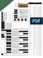Pathfinder Horizontal Character Sheet By Treyu-Modified By Monk