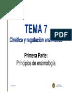 Tema 7 - Cinética y regulación enzimática. Primera Parte - BIOQUÍMICA - GOD - 2013-14