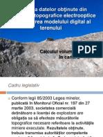 Utilizarea Datelor Obţinute Din Măsurători Topografice Electrooptice La Realizarea Modelului Digital Al Terenului