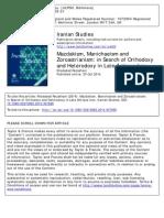 En Busca de La Ortodoxia en El Zoroastrismo