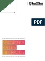 Brochure del Magíster en Artes Liberales